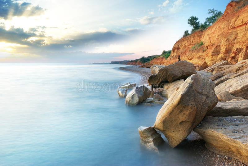 Paisagem bonita do mar imagem de stock