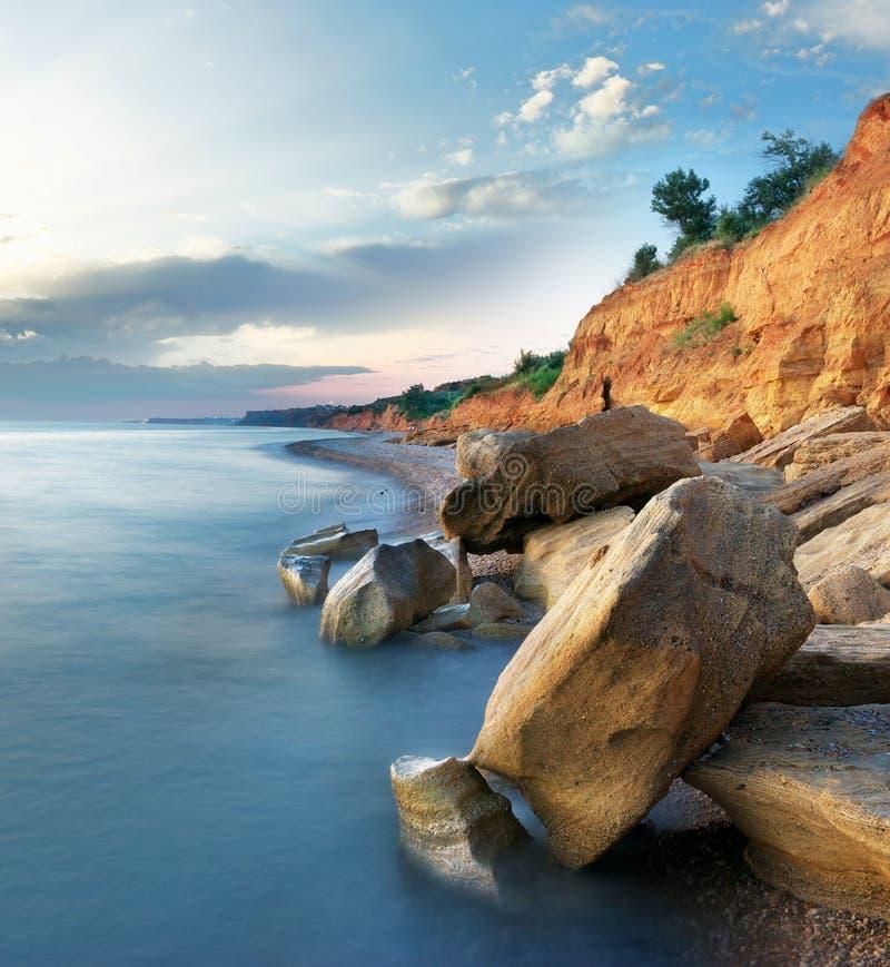 Paisagem bonita do mar fotos de stock royalty free