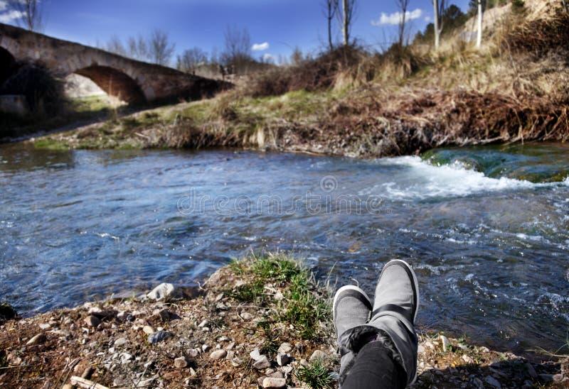 Paisagem bonita do rio foto de stock
