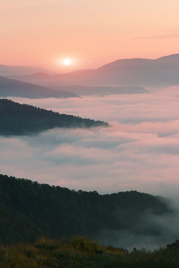 Paisagem bonita do verão, montanhas de Europa, curso de Europa, mundo da beleza fotos de stock