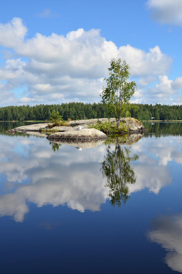 Paisagem bonita em Finlandia imagens de stock