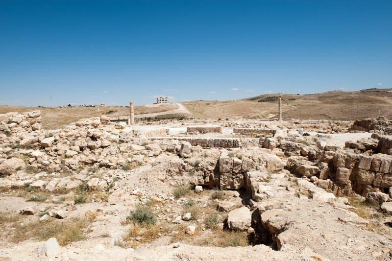 Paisagem bonita Jordânia foto de stock