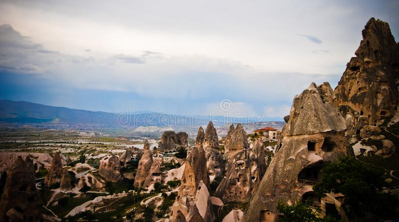 Paisagem bonita na região de capadocia em Turquia foto de stock