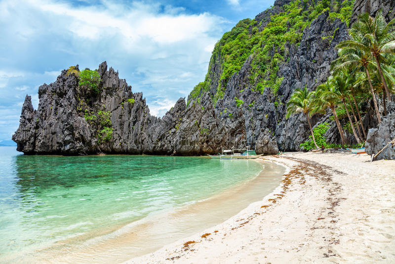 Paisagem bonita no EL Nido, Filipinas fotografia de stock royalty free