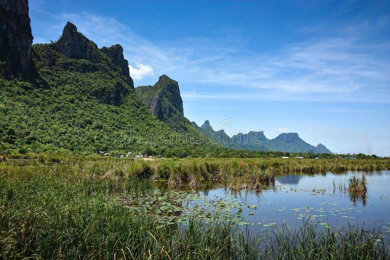 Paisagem cênico da montanha e do lago foto de stock royalty free