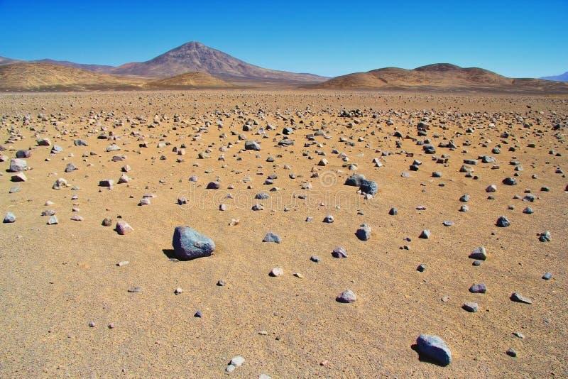 Paisagem cênico do deserto de Atacama no Chile imagem de stock royalty free