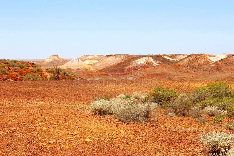 Paisagem cênico nos Breakaways, Austrália imagens de stock