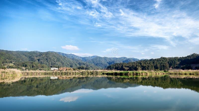 Paisagem calma do lago reflexivo claro imagens de stock royalty free