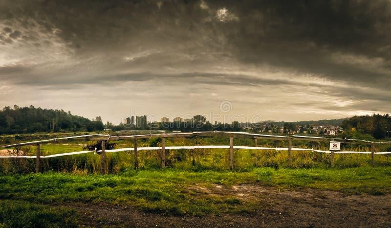 paisagem Cargo-apocalíptico foto de stock