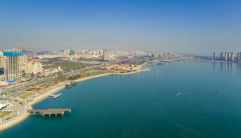 Paisagem China da costa de Qingdao fotos de stock royalty free