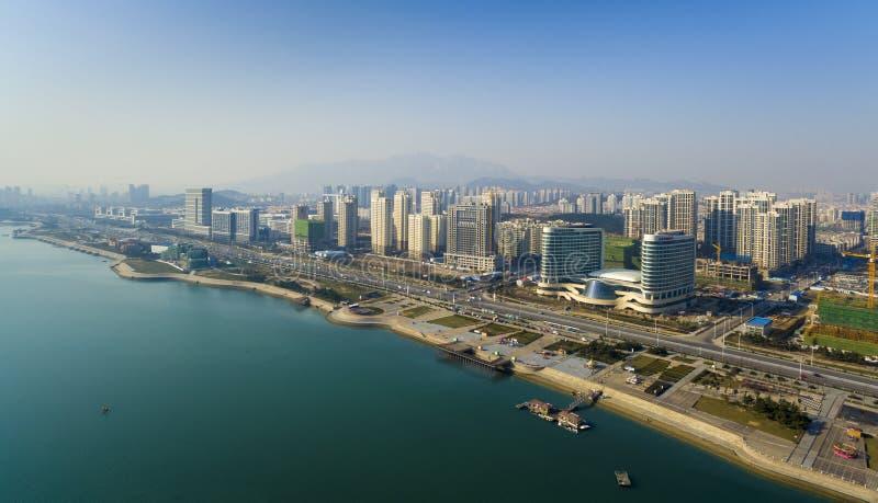 Paisagem China da costa de Qingdao foto de stock