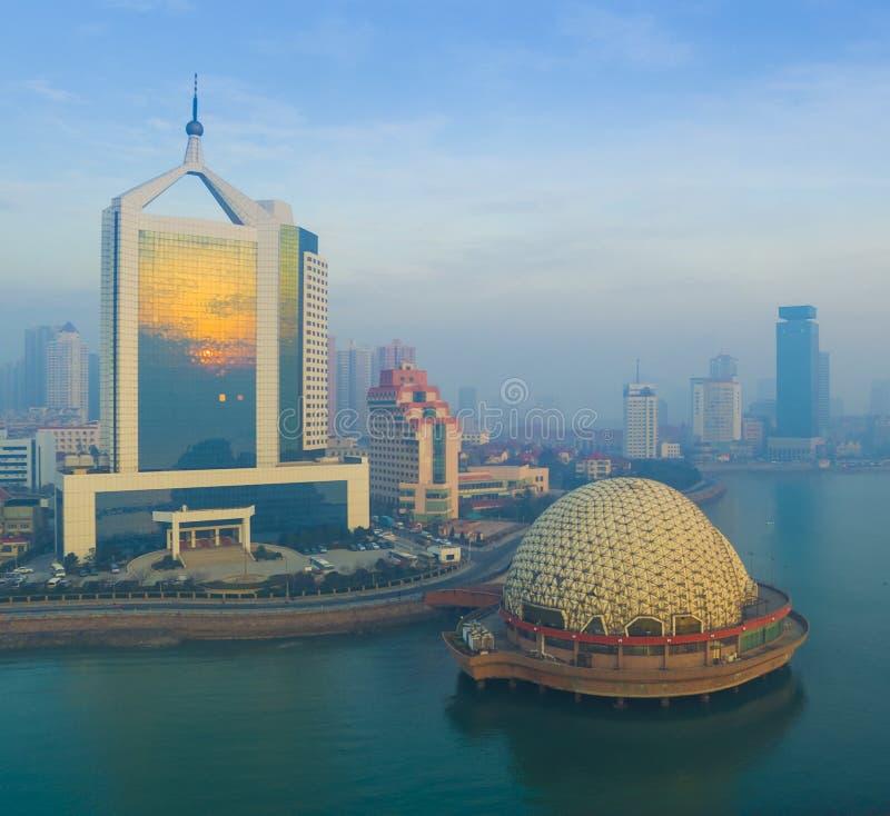 Paisagem China da costa de Qingdao fotografia de stock