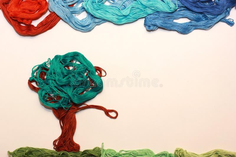 Paisagem colorida feita à mão imagens de stock royalty free