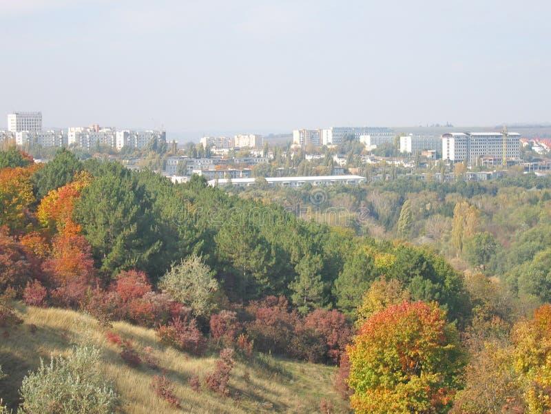Paisagem colorida natural do outono foto de stock