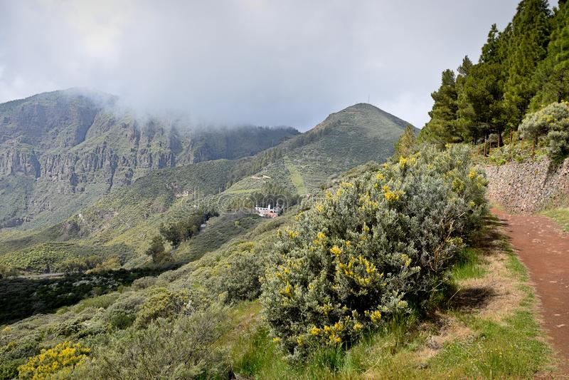 Paisagem com as montanhas em Gran Canaria imagens de stock royalty free