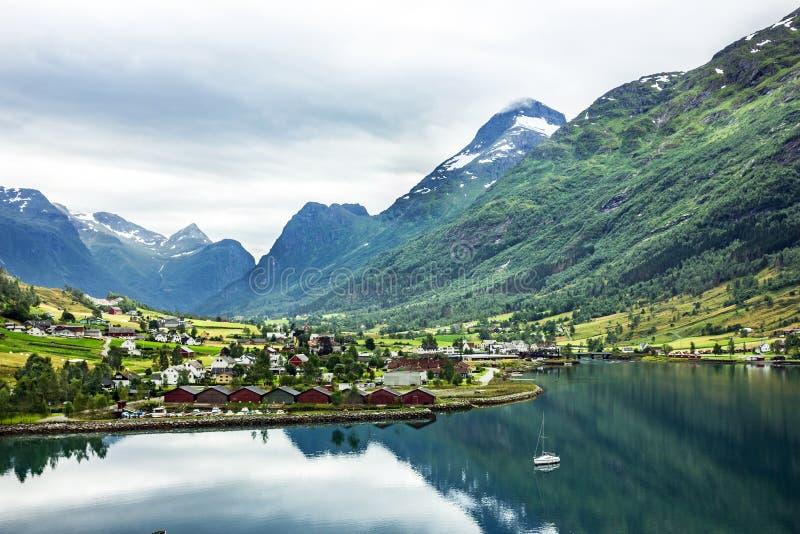 Paisagem em Noruega fotos de stock royalty free