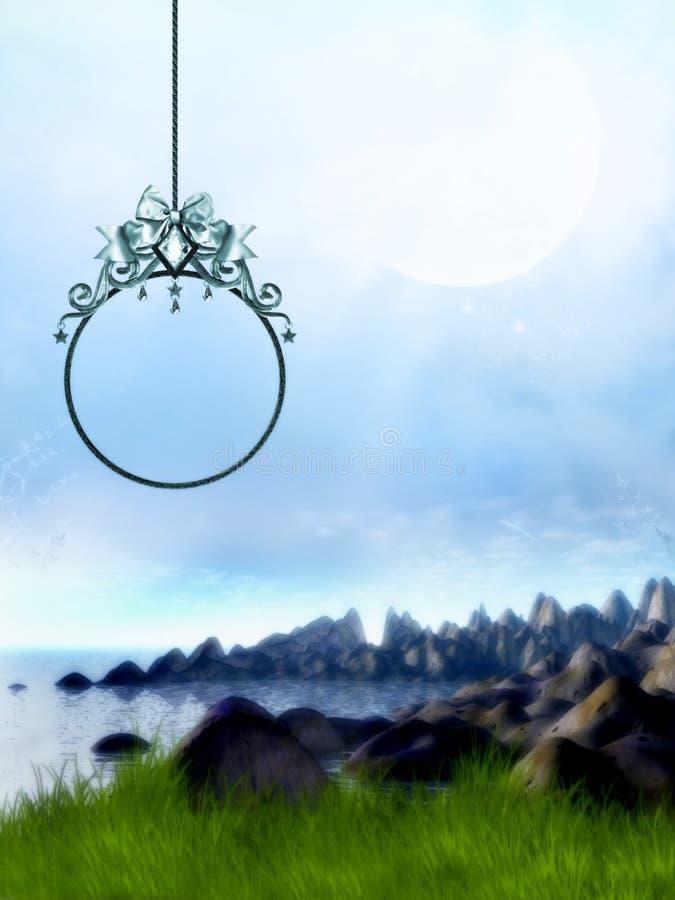 Paisagem com frame ilustração stock