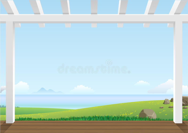 Paisagem com montes verdes ilustração stock