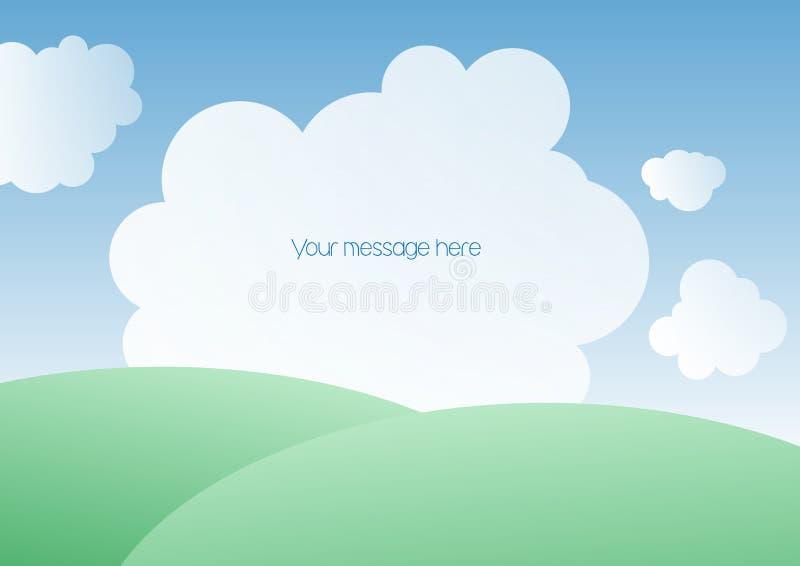 Paisagem com nuvens ilustração do vetor