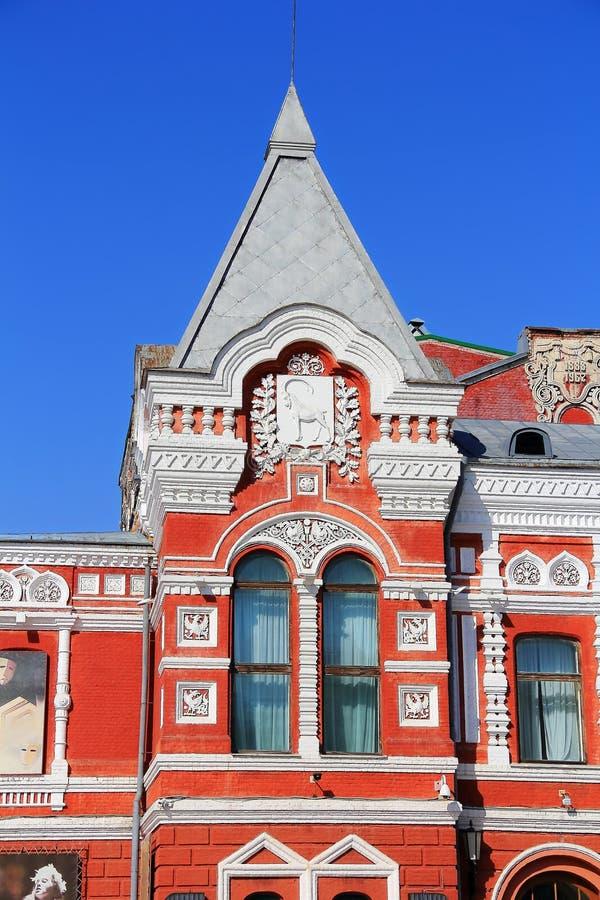 Paisagem com teatro histórico e o céu azul imagens de stock royalty free