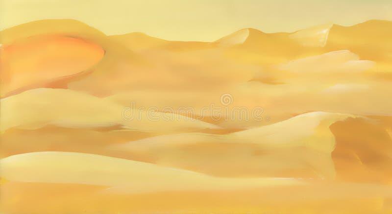Paisagem da areia do deserto da aquarela ilustração do vetor