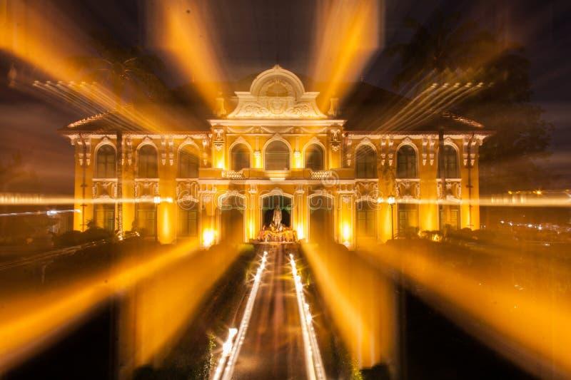 Paisagem da arquitetura da noite imagens de stock