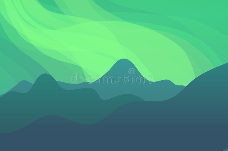 Paisagem da aurora boreal ilustração stock