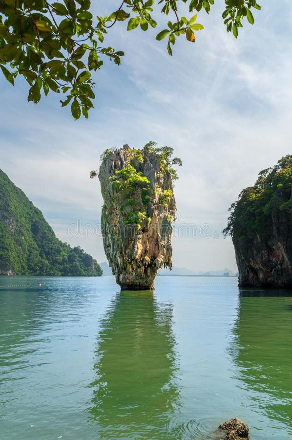 Paisagem da baía de Phang Nga da ilha de James Bond, perto de Phuket Thaila imagens de stock