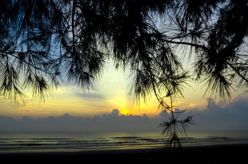 Paisagem da beleza com nascer do sol fotos de stock