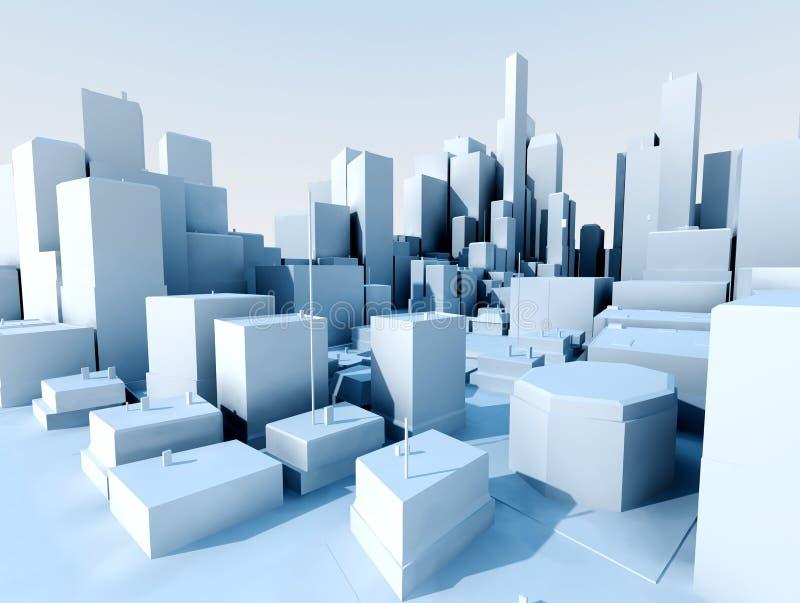 paisagem da cidade 3d ilustração royalty free