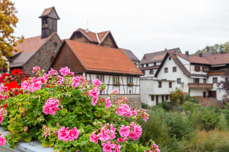 Paisagem da cidade de Autumn Gernsbach em Alemanha foto de stock