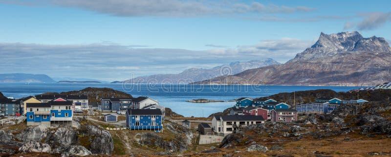 Paisagem da cidade de Nuuk imagens de stock