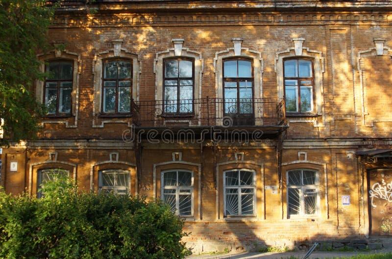 Paisagem da cidade fragmento Rua 9 de Gogol Monumento da arquitetura do século XIX fotos de stock royalty free