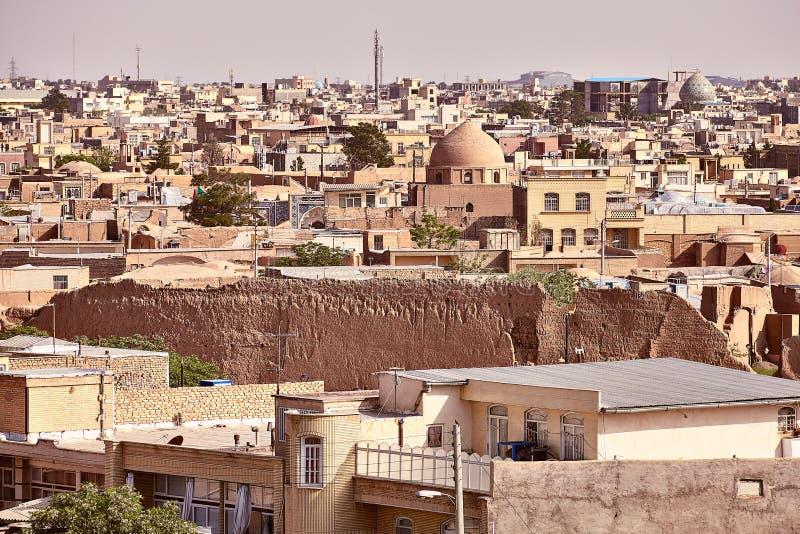 Paisagem da cidade velha, Kashan, Irã imagem de stock