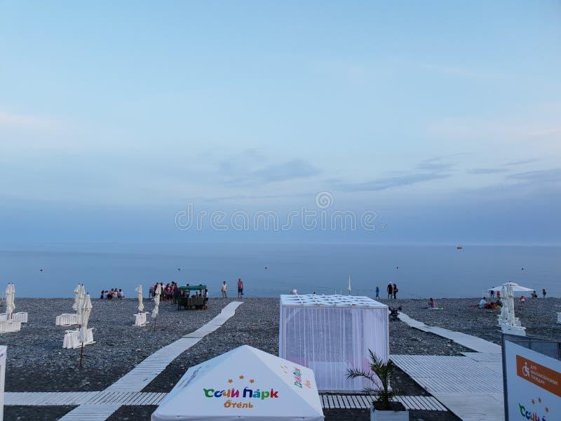 Paisagem da costa de mar em Sochi imagem de stock royalty free