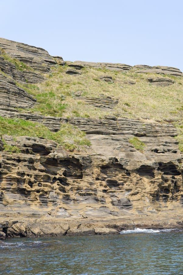 Paisagem da costa de Yongmeori fotos de stock royalty free