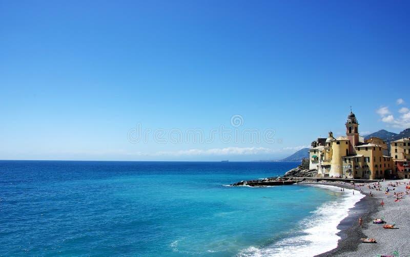 Paisagem da costa Ligurian, Itália imagens de stock royalty free