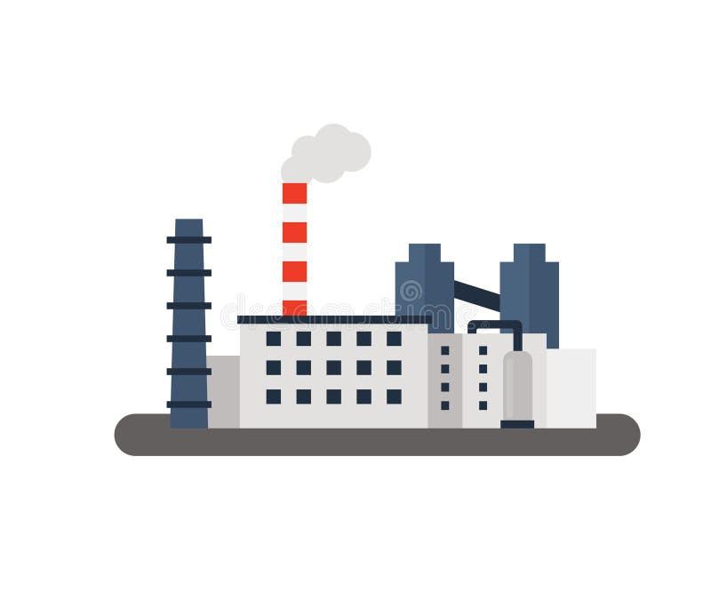 Paisagem da fábrica Ilustração lisa do vetor ilustração stock