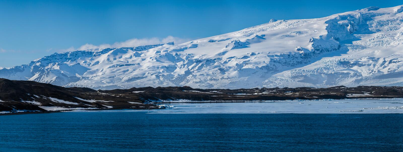 Paisagem da geleira no ártico imagem de stock