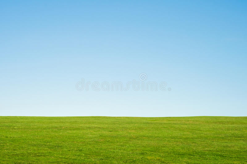 Paisagem da grama e do céu foto de stock