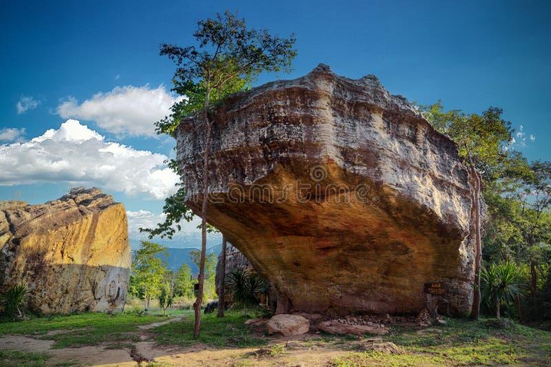 A paisagem da grande pedra chamou o hin chang para considerar fotografia de stock