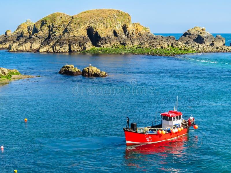 Paisagem da ilha de Sark, Guernsey, ilhas channel fotos de stock