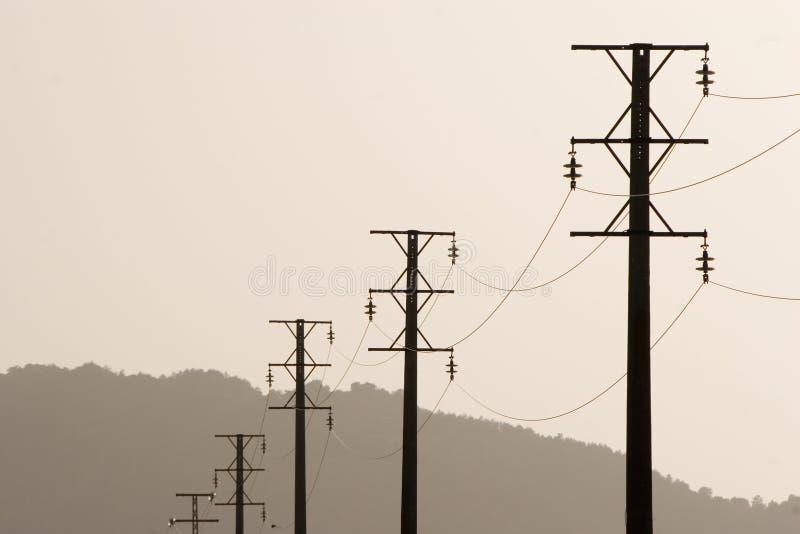 Paisagem da linha eléctrica imagem de stock royalty free