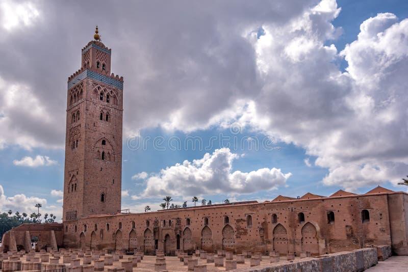 Paisagem da mesquita de Koutoubia foto de stock royalty free