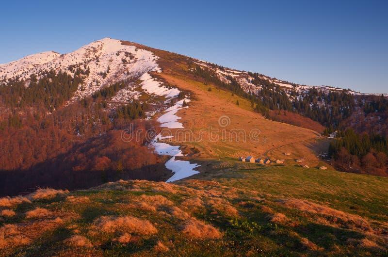 Paisagem da mola nas montanhas foto de stock royalty free