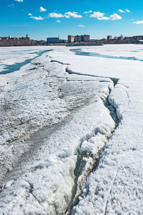 Paisagem da mola no rio Siberian Sibéria ocidental, Rússia imagem de stock royalty free