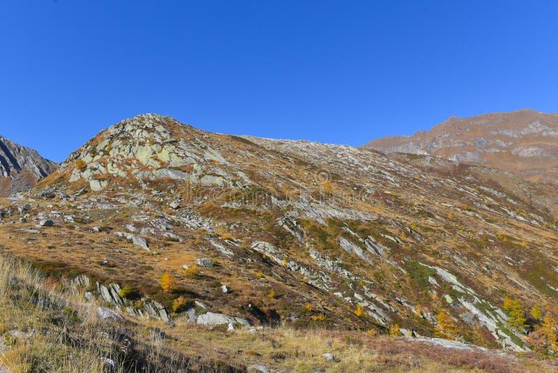 Paisagem da montanha alta com rochas fotografia de stock royalty free