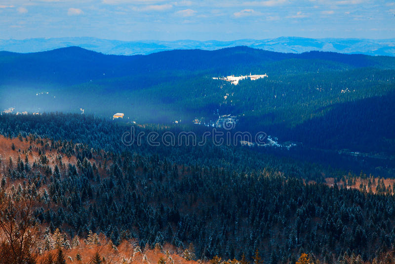 Paisagem da montanha Bjelasnica Bósnia e Herzegovina fotografia de stock royalty free