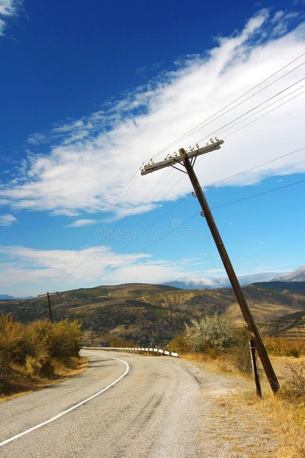 Paisagem da montanha com estrada imagem de stock