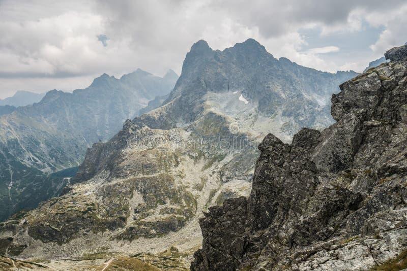 Paisagem da montanha de montanhas polonesas imagem de stock